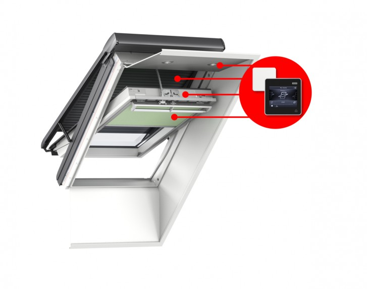 Funzionamento finestra elettrica for Finestre velux foto