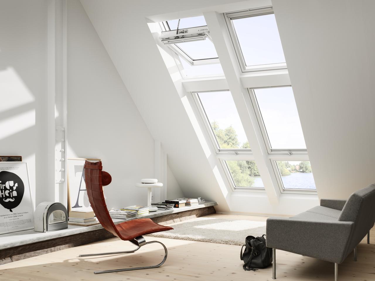Posizionamento e misure delle finestre per tetti for Finestre da mansarda