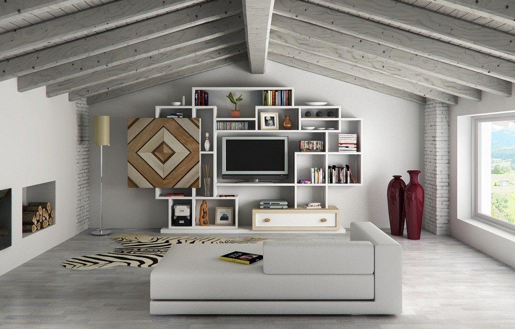 Librerie per la mansarda for Progetti di case ranch contemporanee