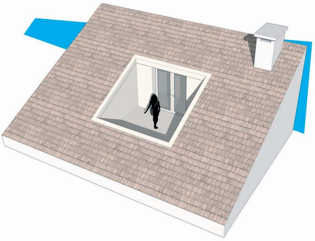 Chiusura di una terrazza a vasca nella copertura casa luce - Serra bioclimatica normativa ...