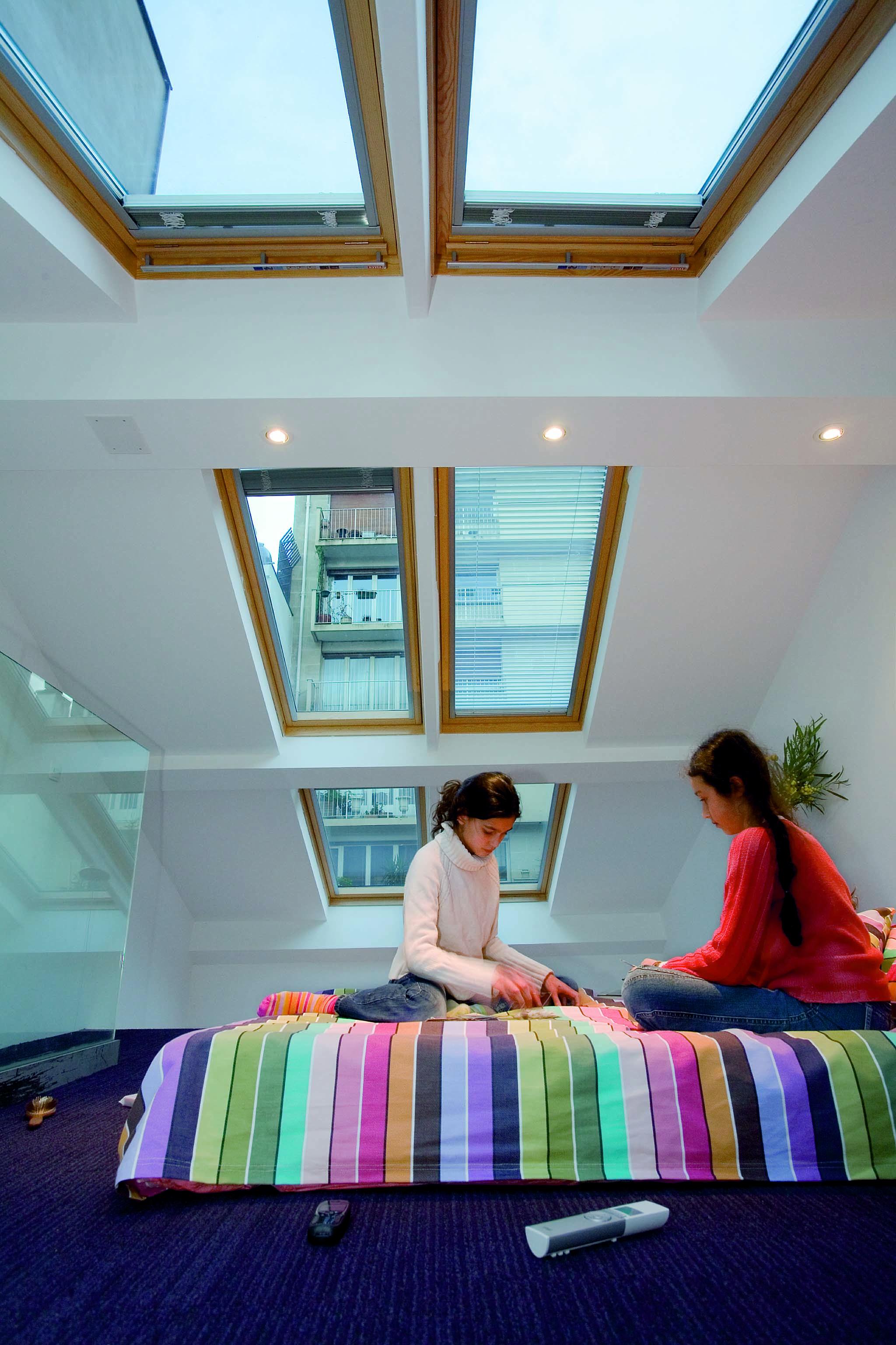 Le finestre integrate nel tetto