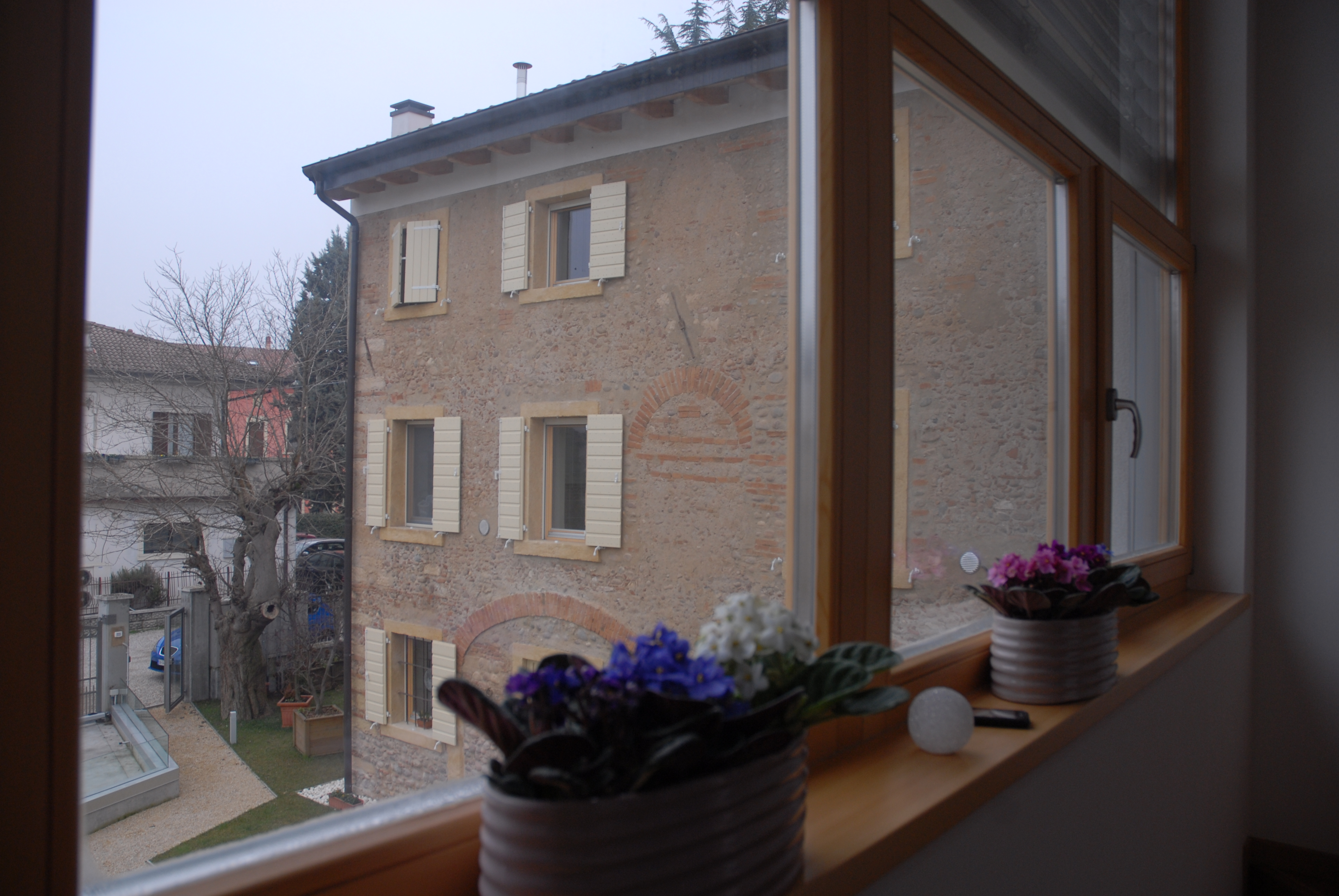 Vista dalle vetrate