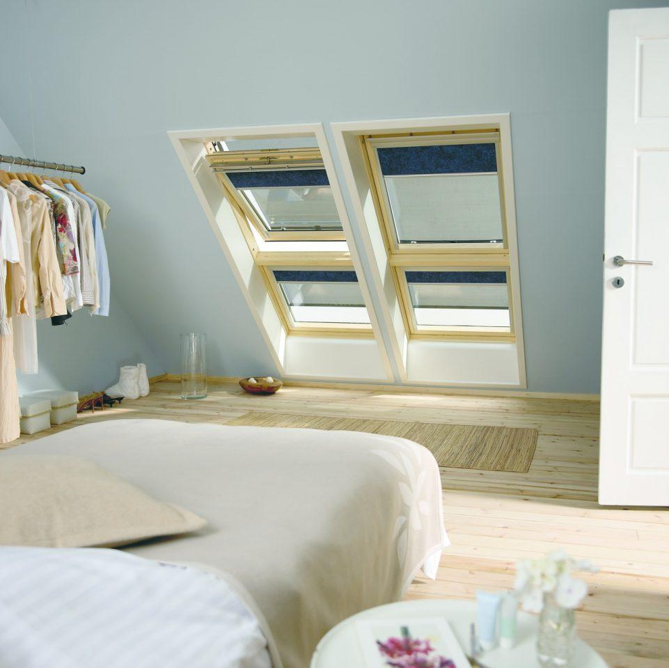 Finestre abbinate for Oscuranti per finestre velux