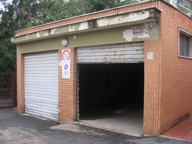 Il garage prima della ristrutturazione