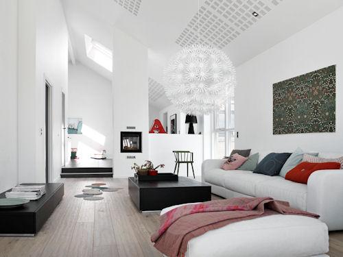 La luce giusta per ogni stanza la zona giorno mansarda
