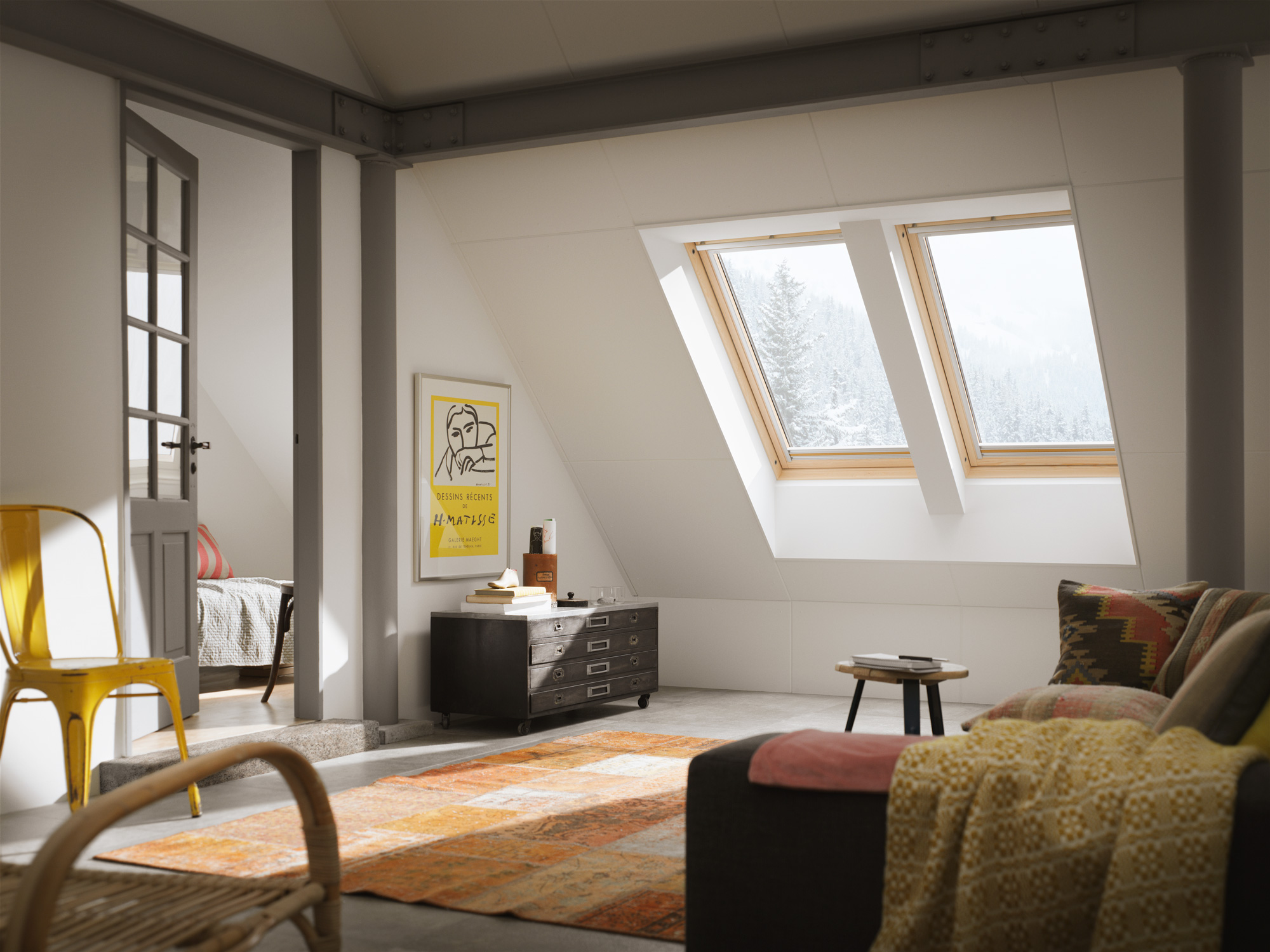La finestra in legno un classico per la mansarda for Finestra mansarda