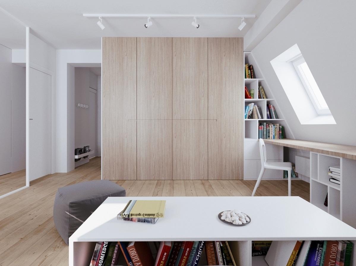Mobili e armadi nella camera da letto in mansarda for Camera da letto con armadio
