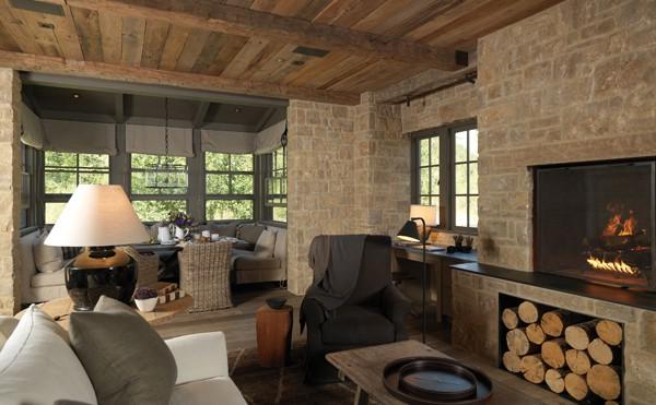Arredamento soggiorno rustico moderno idee per il design for Arredamento rustico moderno