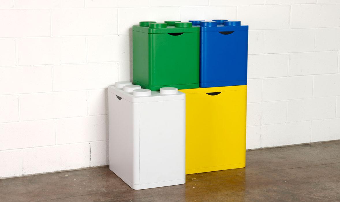 Come fare la raccolta differenziata in mansarda - Contenitori spazzatura casa ...