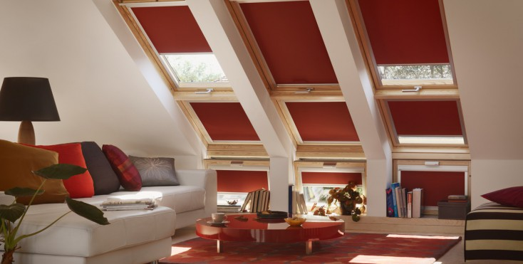 Ispirazione rosso for Tende per finestre sottotetto