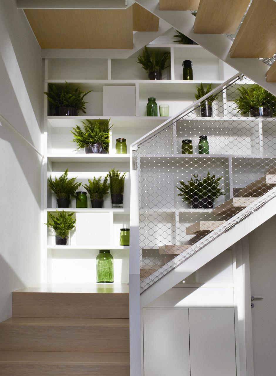 Ispirazione scale for Mansarda in legno bianco