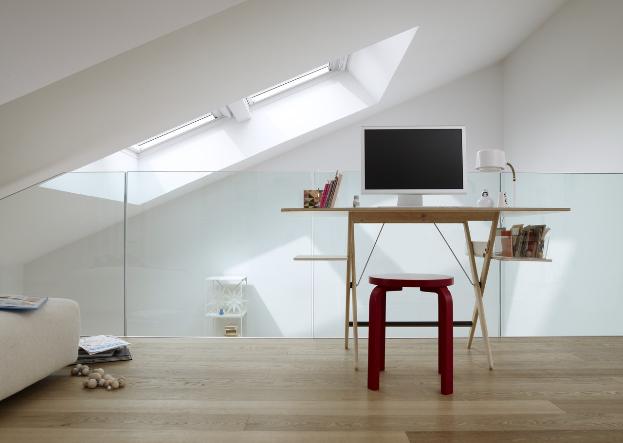 Un ufficio in mansarda - Altezza minima finestre ...