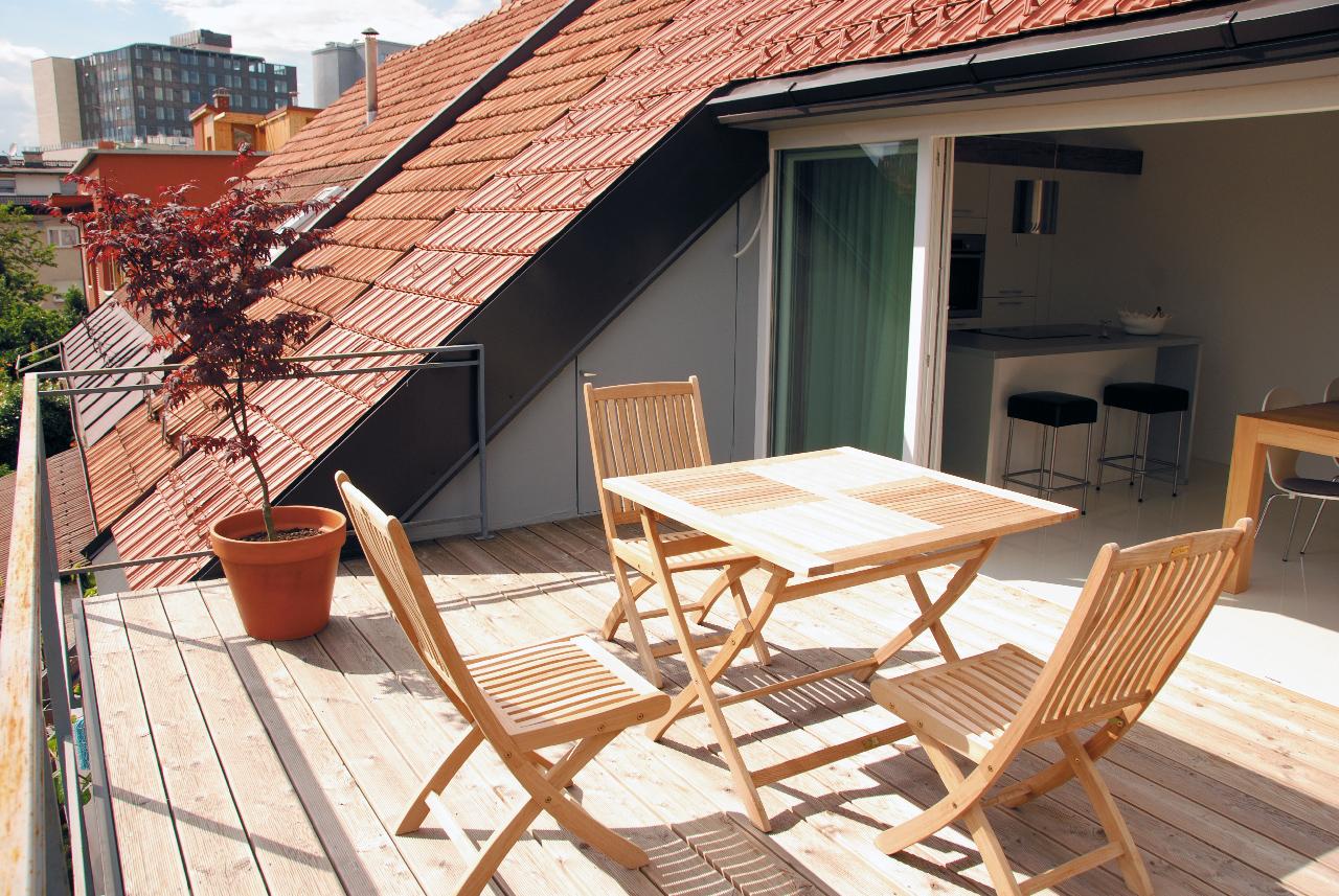 Terrazze in mezzo ai tetti for Terrazza design