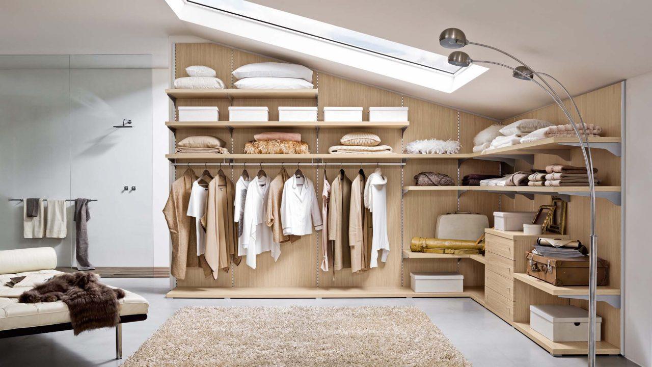 6 modi per organizzare il guardaroba in mansarda - I mobili nel guardaroba ...