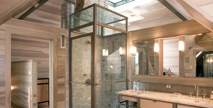 7 bagni con doccia nel sottotetto for Un bagno in cabina