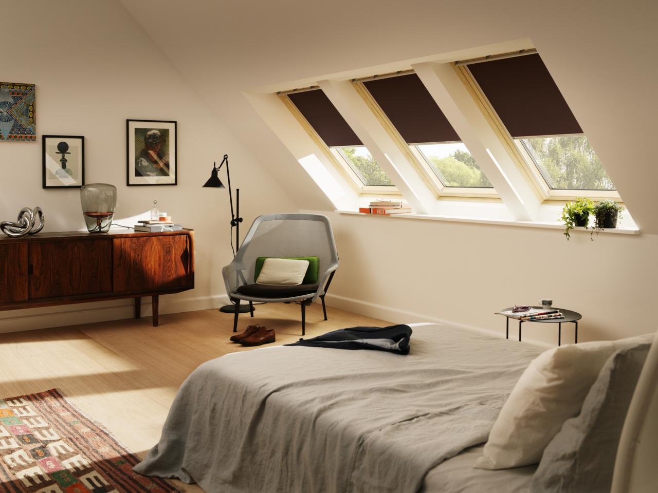 10 suggerimenti per sfruttare al meglio ogni angolo della mansarda - Camera da letto sottotetto ...