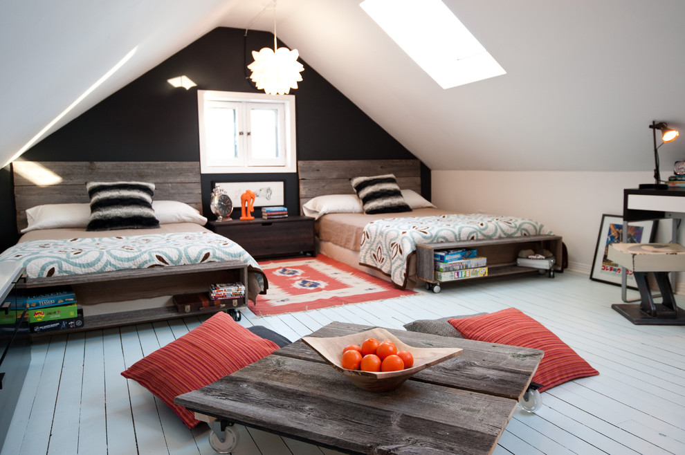 Incredible-Bohemian-Furnishings-Ideas-in-Kids-Rustic-design-ideas-with-area-rug-attic-bed-pillows-Bedroom-casement