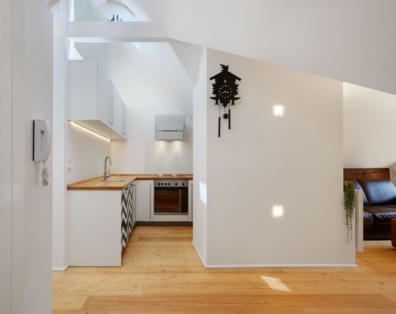 Un appartamento in una mini mansarda di 50 metri quadri for 2 metri quadrati di garage
