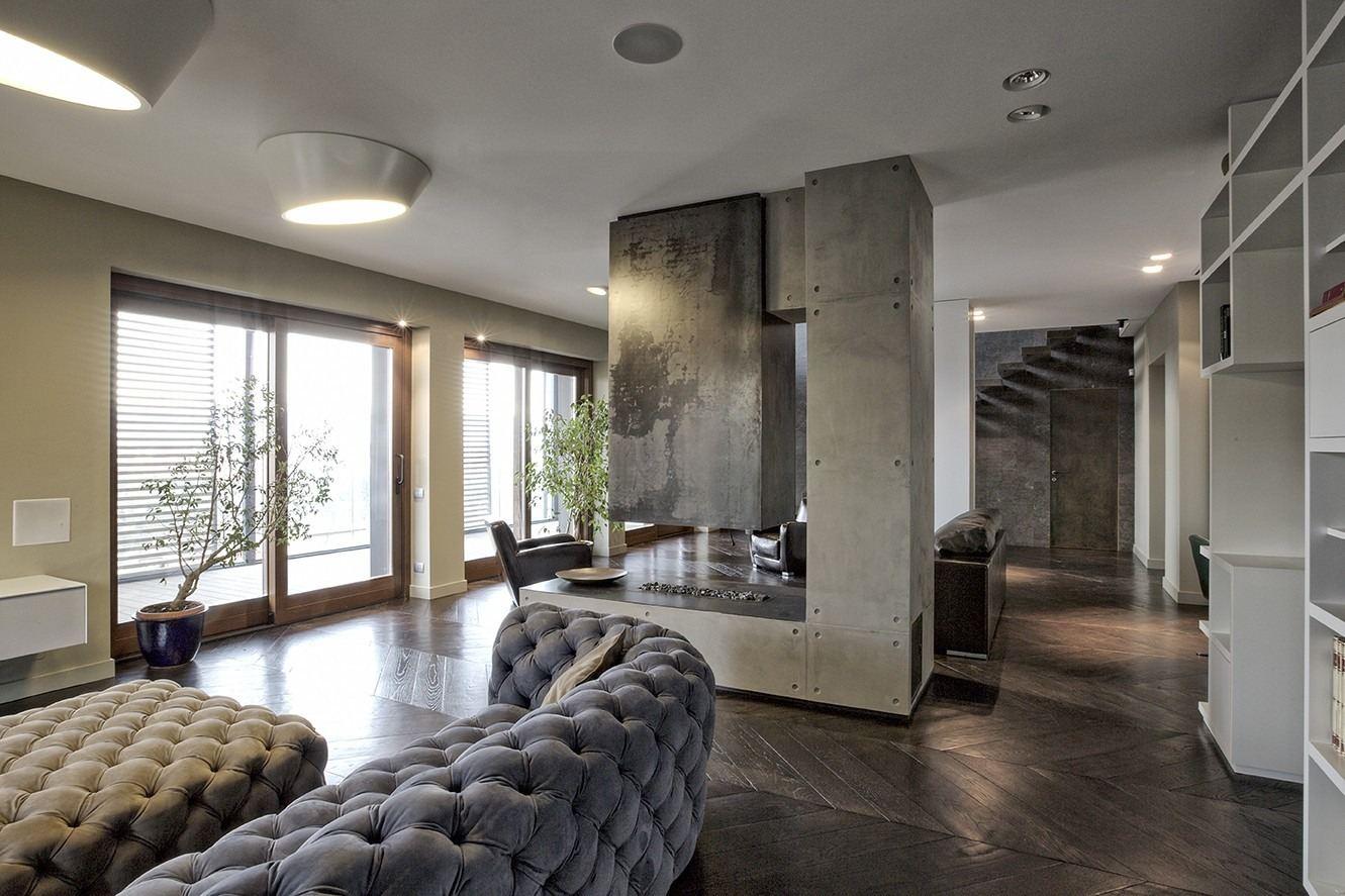 Un attico su due livelli con terrazzo sulla citt for Case ristrutturate da architetti foto
