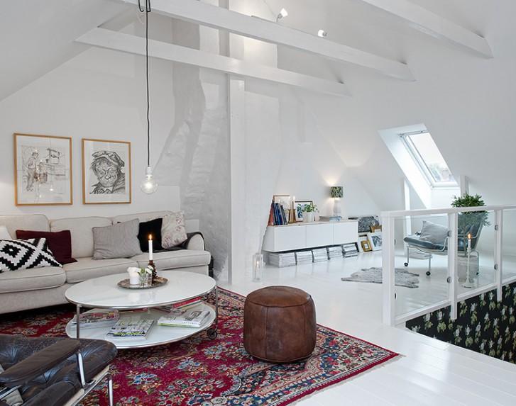 Salotto in stile nordico - Mansarda.it