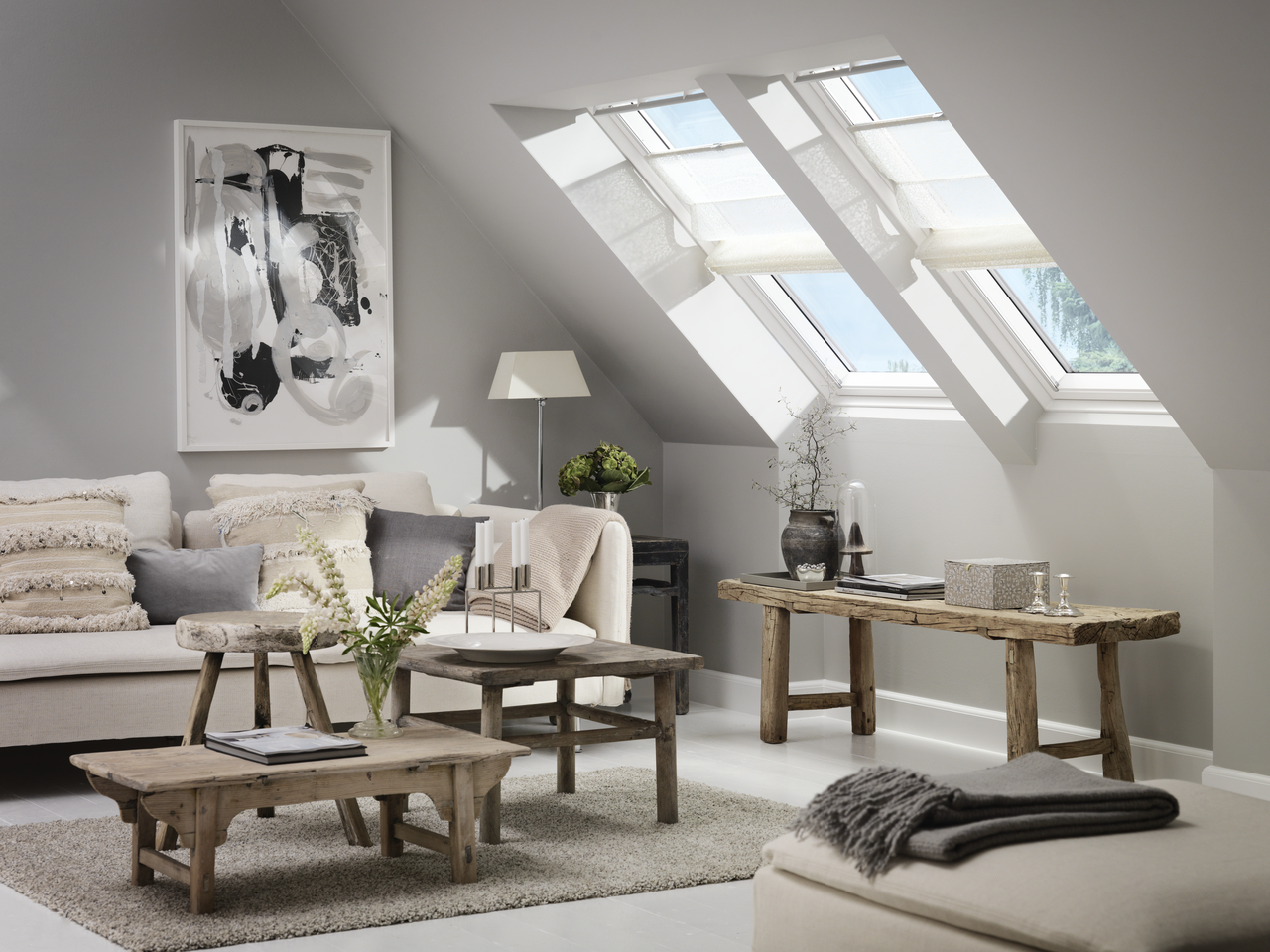 Le nuove tende a pacchetto velux for Tende per finestre a soffitto