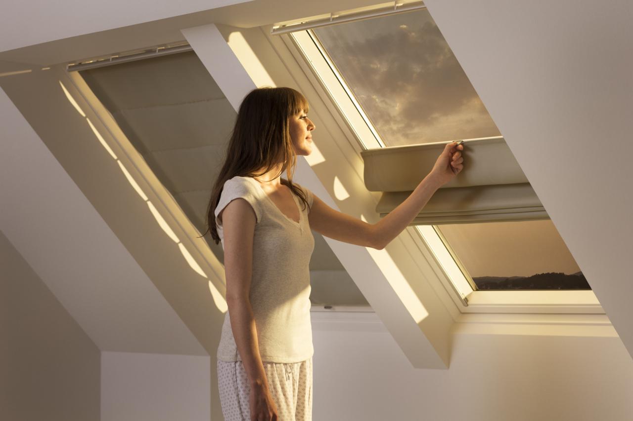Come si pu modulare la luce che entra dalle finestre per for Oscuranti per finestre velux
