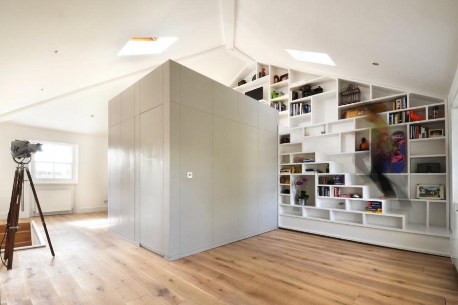 Soppalco Camera Da Letto Moderno : Un loft di design a londra mansarda