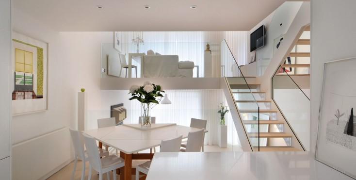 Una casa a schiera su quattro livelli for Piani di casa con 5 camere da letto con stanza bonus