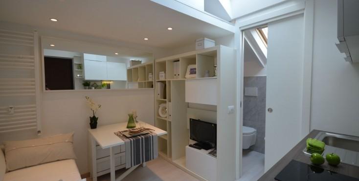 Una mansarda con soppalco piccola ma funzionale for Piani di casa cabina con soppalco