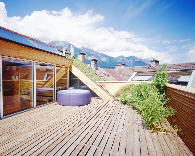 L 39 ampliamento di un attico for Terrazo exterior