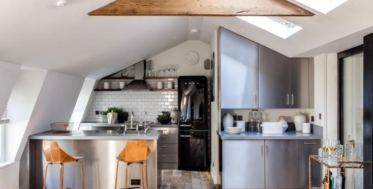 La cucina in mansarda - Mansarda.it