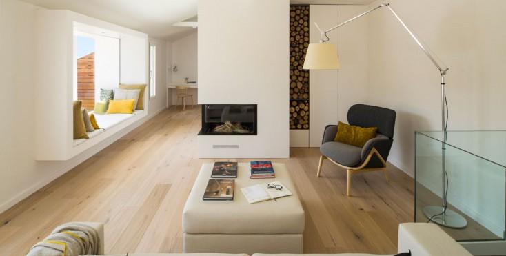 Un attico su due livelli con terrazzo for Garage con il costo dell appartamento loft