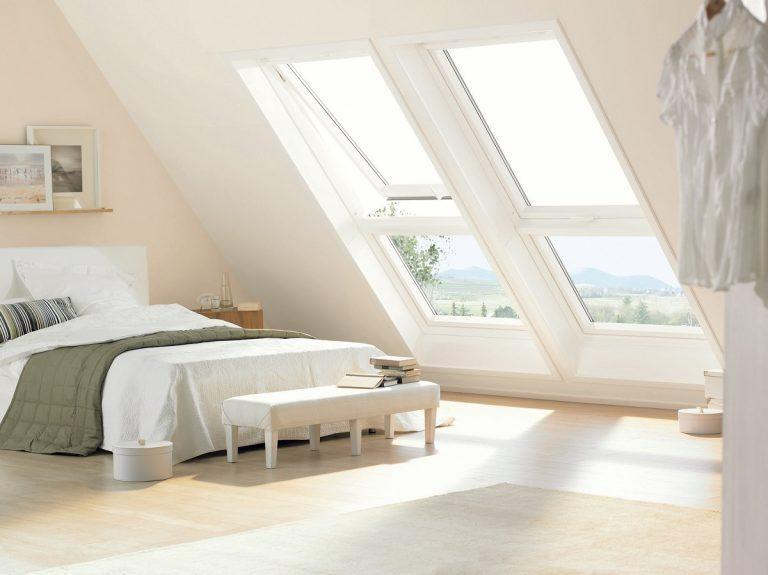 camera da letto con finestre VELUX