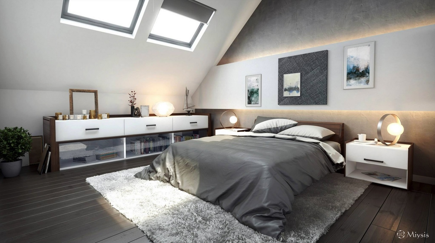 Attic-bedroom-modern-ideas