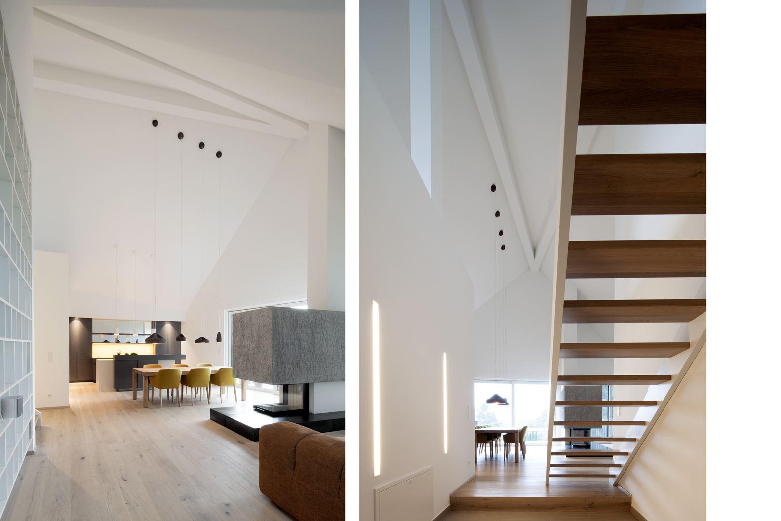 Un attico elegante e luminoso for Finestre a soffitto