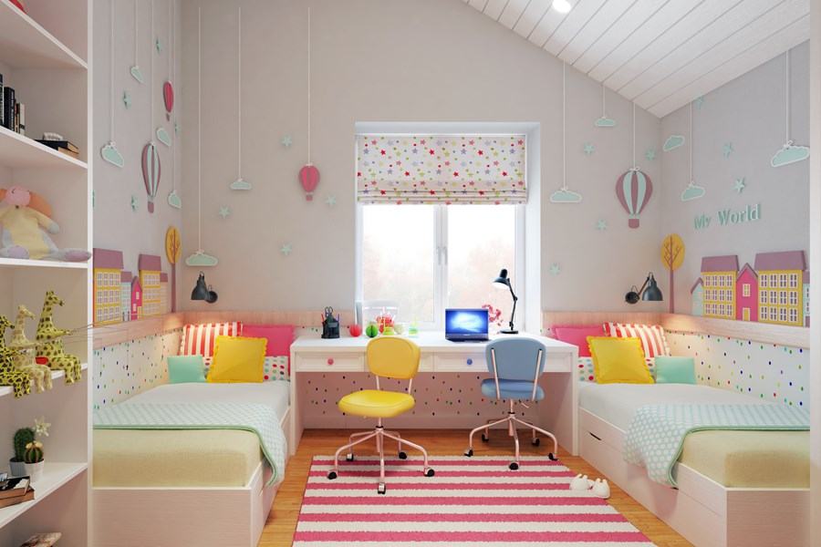 Tende per la camera dei bambini - Tende per cameretta bambina ...
