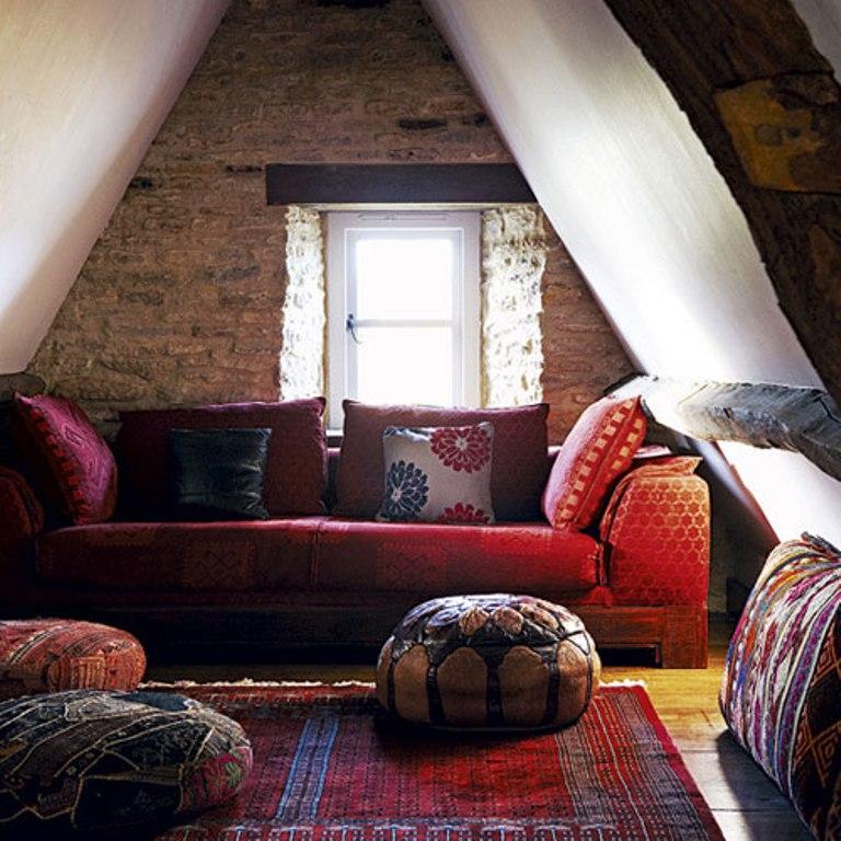 Rustic-Bohemian-Attic-Living-Room