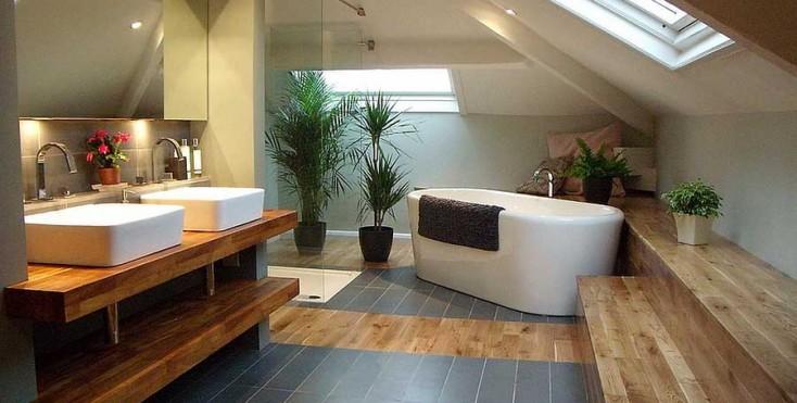 Come organizzare gli spazi nel bagno in mansarda for Foto di mansarde arredate