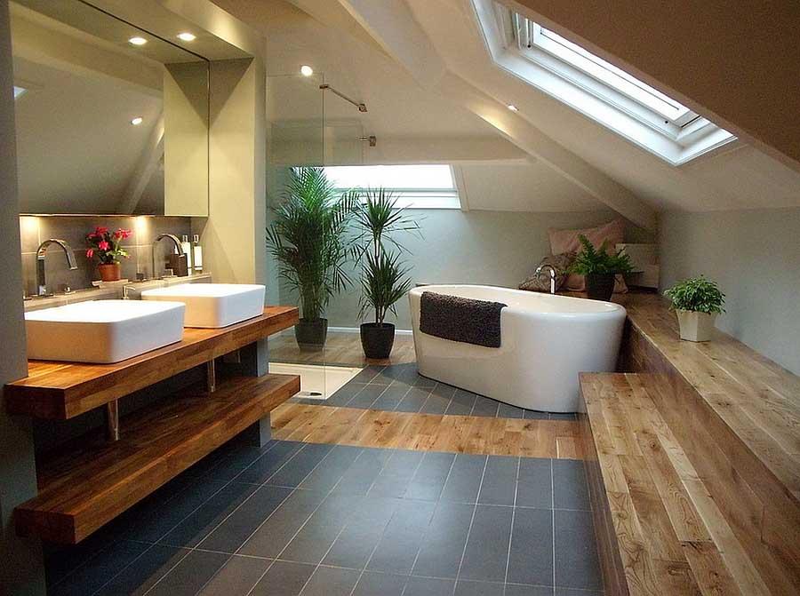 Rivestimento In Legno Per Vasca Da Bagno : Come organizzare gli spazi nel bagno in mansarda mansarda.it