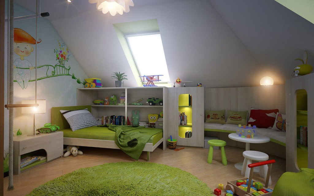 bedroom-attic-room-design-idea-for-kid