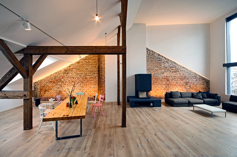 Idee per un soggiorno funzionale in mansarda for Idee per tinteggiare il salotto