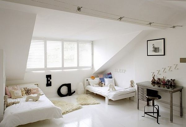 white-attic-bedroom-idea