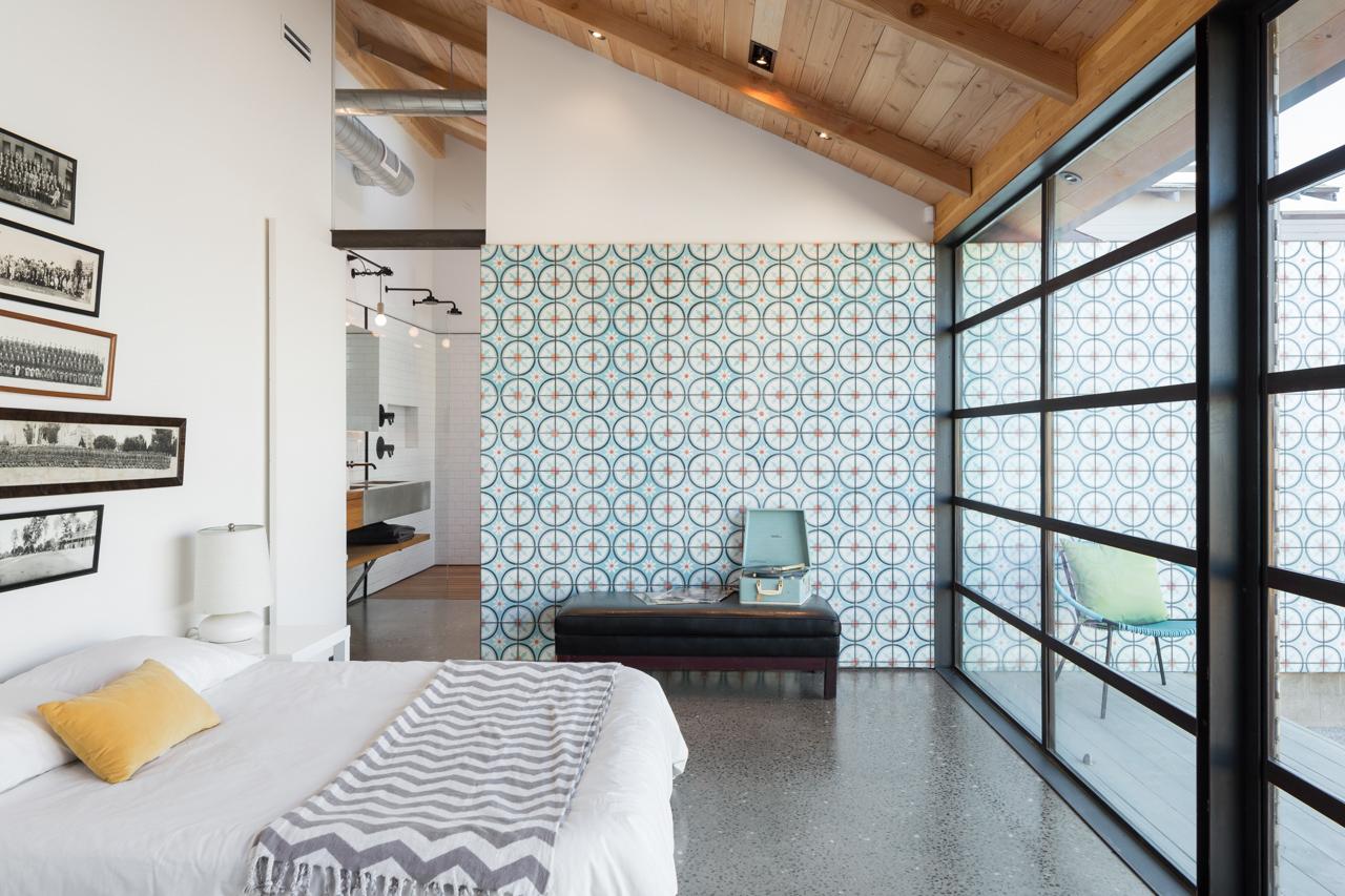 Un bungalow in stile contemporaneo for Piccole planimetrie con due camere da letto