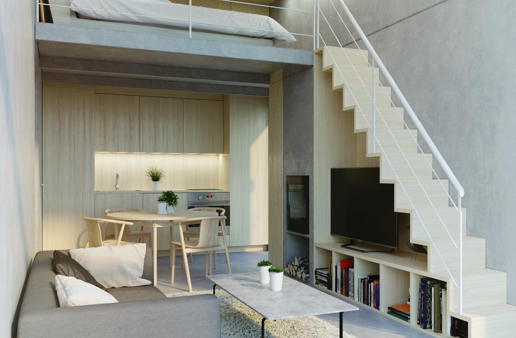 Salone Stile Moderno Con Parquet E Vetrate Internal Design : Arredare mansarda con tetto a vetri la scelta giusta è