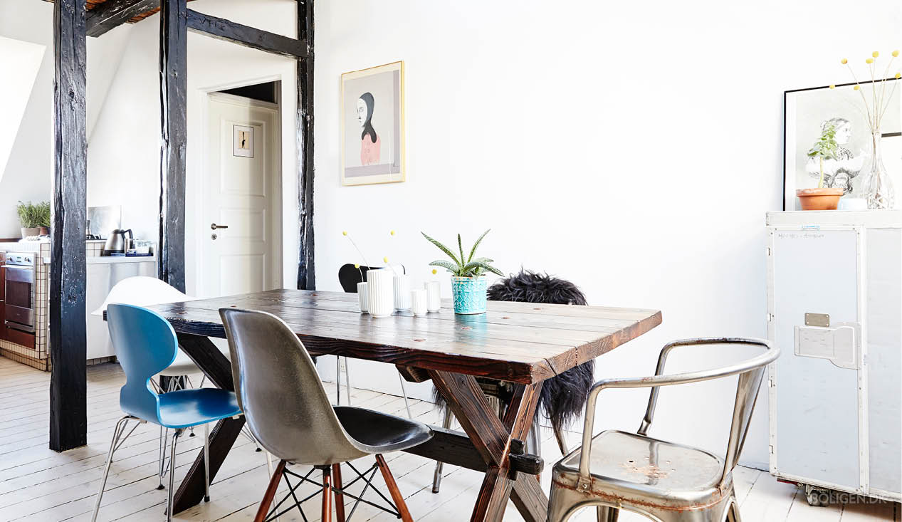 Da deposito a splendido duplex con stile - Quadri per sala da pranzo ...