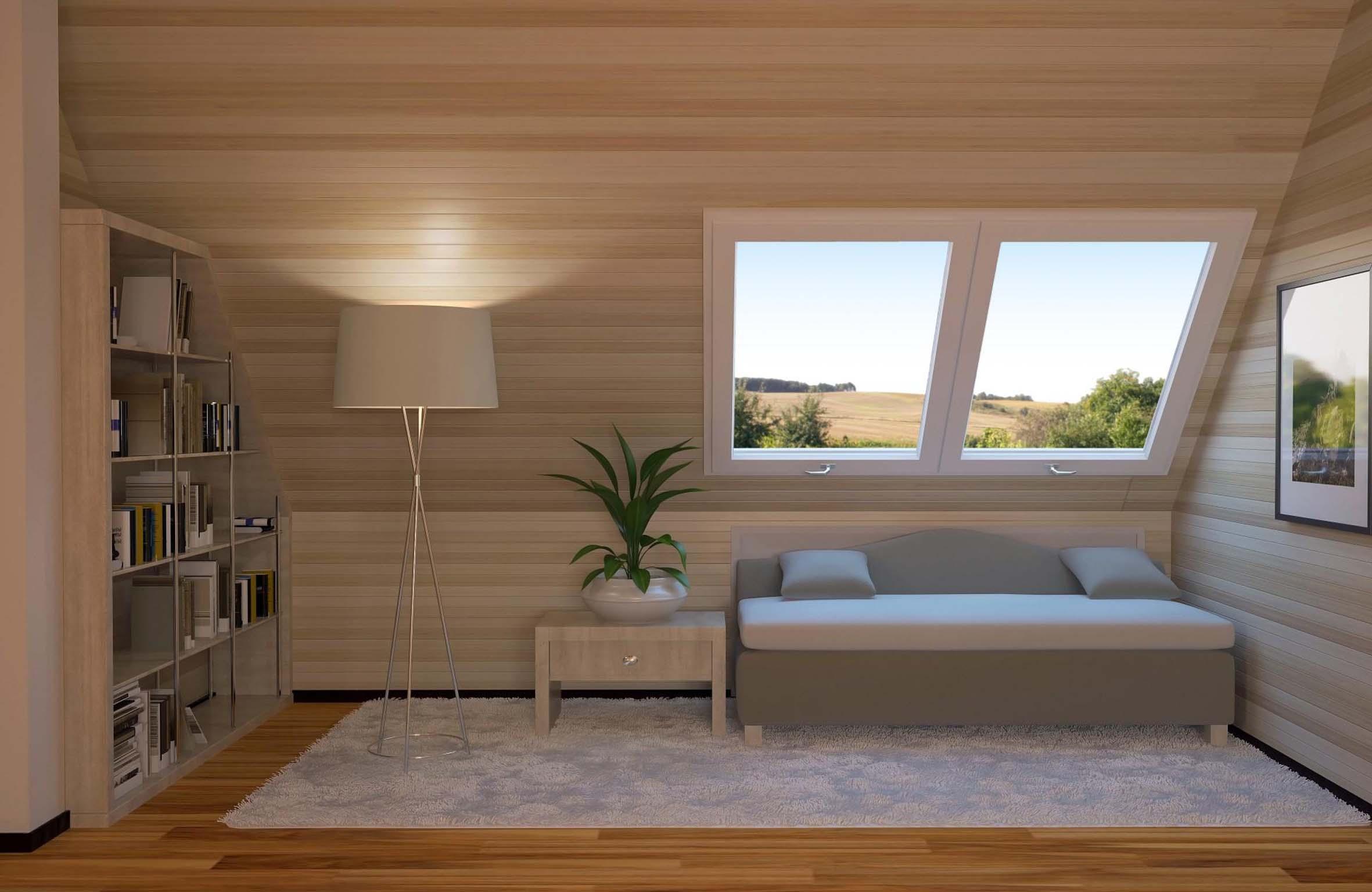 come fare solaio in legno in una piccola stanza : Come creare un angolo lettura in mansarda - Mansarda.it