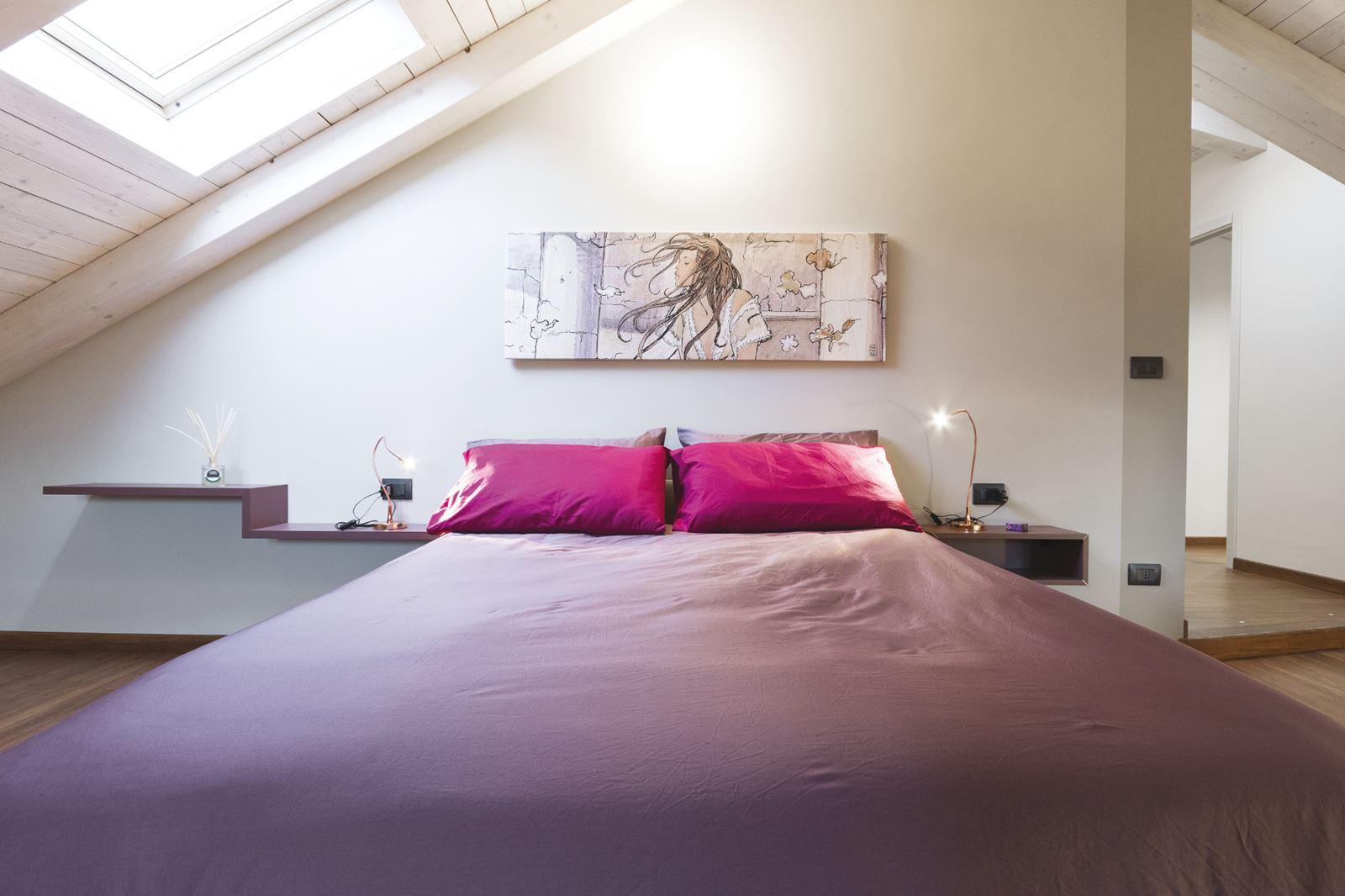 Prospettiva di una camera da letto. cool camera da letto luglio la