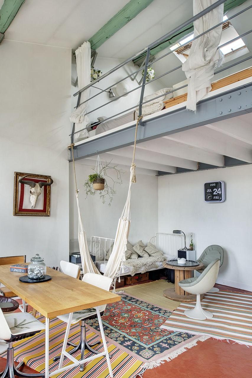 Un duplex boemien a marsiglia - Come fare un soppalco in casa ...
