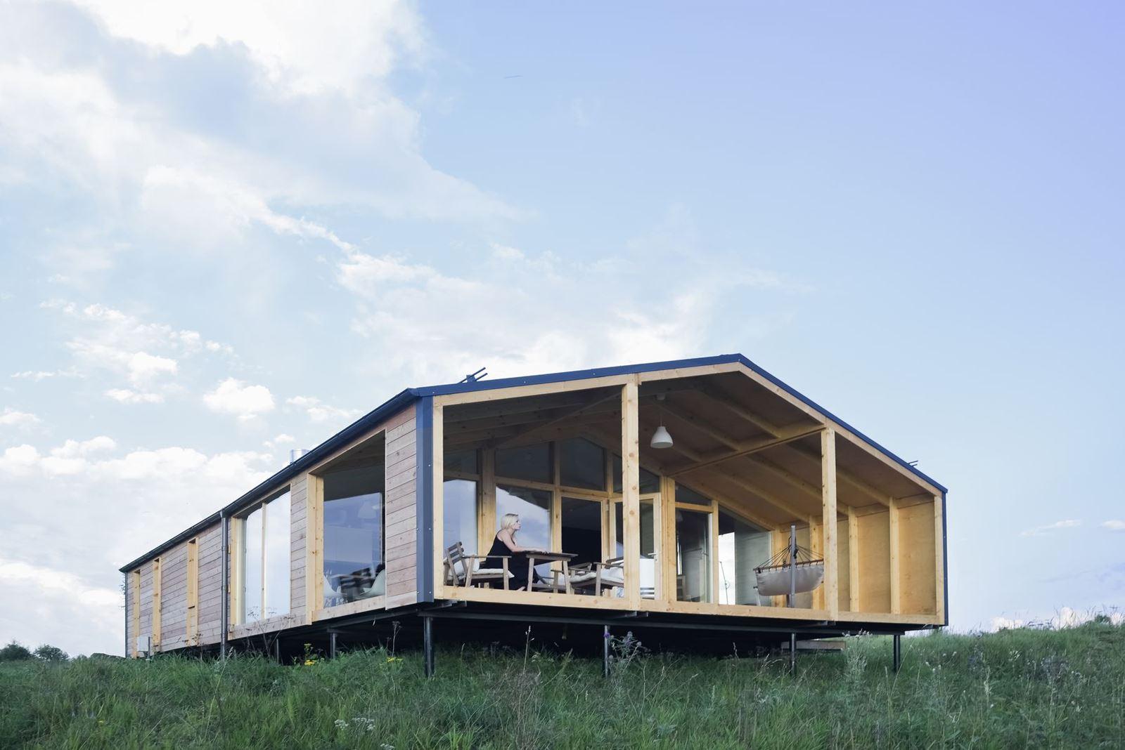 Una casa ecologica e prefabbricata for Ottenere una casa costruita
