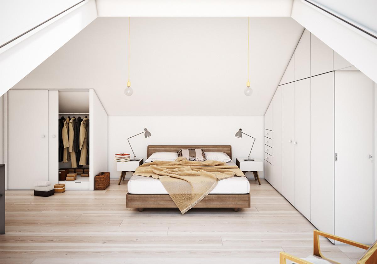 Camere da letto in mansarda for Quanto costa una casa con 3 camere da letto